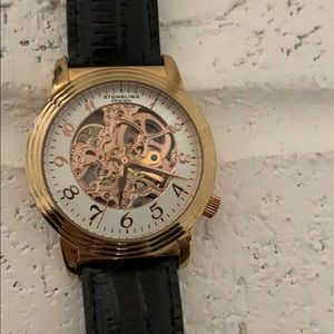 Stuhrling Rose Gold and Black Watch